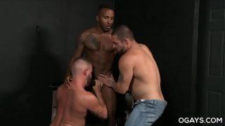 Interracial Anal Threesome